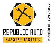 "car spare parts logo ""republic... | Shutterstock .eps vector #1195972588"