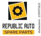 "car spare parts logo ""republic... | Shutterstock .eps vector #1195972612"