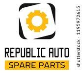 "car spare parts logo ""republic... | Shutterstock .eps vector #1195972615"