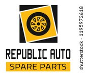 "car spare parts logo ""republic... | Shutterstock .eps vector #1195972618"
