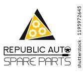 "car spare parts logo ""republic... | Shutterstock .eps vector #1195972645"