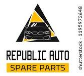 "car spare parts logo ""republic... | Shutterstock .eps vector #1195972648"