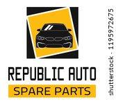 "car spare parts logo ""republic... | Shutterstock .eps vector #1195972675"