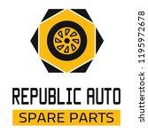 "car spare parts logo ""republic... | Shutterstock .eps vector #1195972678"