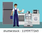 master  repair master home... | Shutterstock .eps vector #1195977265