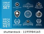 great luxury set  royal and... | Shutterstock .eps vector #1195984165