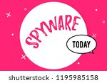 word writing text spyware....   Shutterstock . vector #1195985158