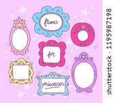 set of frames for little... | Shutterstock .eps vector #1195987198