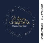 vector illustration merry... | Shutterstock .eps vector #1195988005