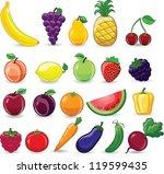 cartoon  vegetables   Shutterstock .eps vector #119599435