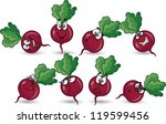 cartoon  beet | Shutterstock .eps vector #119599456