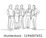 continuous line drawing of... | Shutterstock .eps vector #1196007652