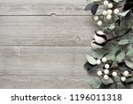 side border of silver green... | Shutterstock . vector #1196011318
