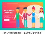 business team of employees.... | Shutterstock .eps vector #1196014465