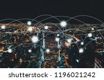 network and connection... | Shutterstock . vector #1196021242