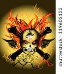 arts skull fire | Shutterstock . vector #119603122