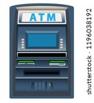 atm  machine isolated on white... | Shutterstock .eps vector #1196038192