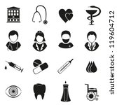 Medical Icons Isolated On Whit...