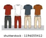 vector pattern t shirt pants... | Shutterstock .eps vector #1196055412