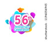 56 th logo anniversary and icon ... | Shutterstock .eps vector #1196056945