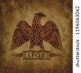 logo of the roman eagle on an... | Shutterstock .eps vector #1196063062