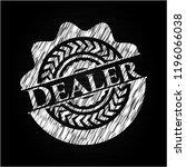dealer written with chalkboard... | Shutterstock .eps vector #1196066038