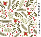 seamless pattern with spruce... | Shutterstock .eps vector #1196073418