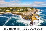 Aerial View Of Pemaquid Point...
