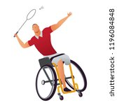 athletes with physical... | Shutterstock .eps vector #1196084848