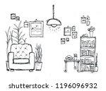 sketch of a home.   Shutterstock . vector #1196096932