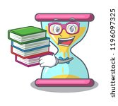 student with book vintage... | Shutterstock .eps vector #1196097325