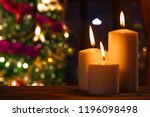 close up of burned candles on... | Shutterstock . vector #1196098498