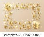 christmas template frame... | Shutterstock .eps vector #1196100808