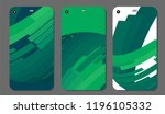 set fashionable abstract... | Shutterstock .eps vector #1196105332