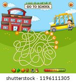 school maze game template... | Shutterstock .eps vector #1196111305