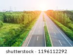high angle view of road along... | Shutterstock . vector #1196112292