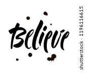 believe sign. vector... | Shutterstock .eps vector #1196116615