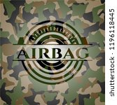 airbag on camo pattern | Shutterstock .eps vector #1196118445
