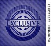 exclusive jean or denim emblem...   Shutterstock .eps vector #1196118535