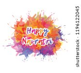 happy navratri festival... | Shutterstock .eps vector #1196122045