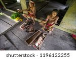indians of the mentawai tribe ... | Shutterstock . vector #1196122255