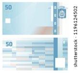 gift certificate voucher... | Shutterstock .eps vector #1196124502