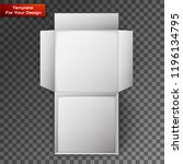 white product package box | Shutterstock .eps vector #1196134795