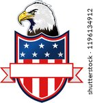 american eagle with usa flags | Shutterstock . vector #1196134912