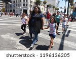hollywood   august 7  2018 ... | Shutterstock . vector #1196136205