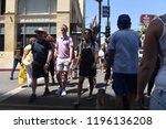 hollywood   august 7  2018 ... | Shutterstock . vector #1196136208