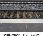 railroad tracks at a train... | Shutterstock . vector #1196139325