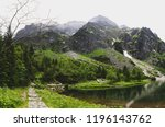 path to rysy peak without... | Shutterstock . vector #1196143762
