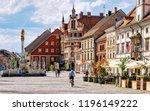 slovenian city of maribor town... | Shutterstock . vector #1196149222