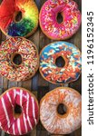 colourfull giant donut | Shutterstock . vector #1196152345
